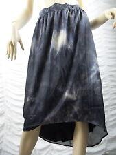 DECJUBA blue marble print marbellous high low maxi skirt size 8 BNWT
