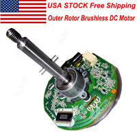 US DC 12-26V High Torque Outer Rotor Brushless Motor Built-in Driver PWM Control