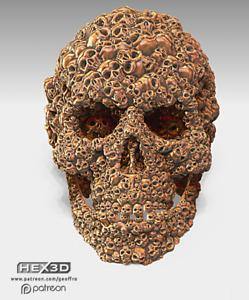Aztec Mayan Death Skull Of Skulls Human Skull Artifact Skull Sculpture Desk Gift