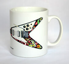 Guitar Mug. Jimi Hendrix's Gibson Flying V illustration.