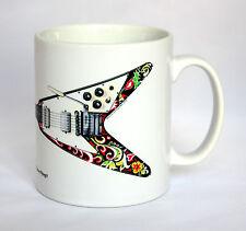 Guitar Mug. Jimi Hendrix's Gibson Flying V illustration.
