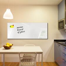 Glas-Magnettafel DekoGlas 125x50 Magnetwand Pinnwand Schreibtafel Weiß 1000