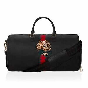 Sprayground | 9103576NSZ Spucci Split Half Check Duffle Travel Bag - Black