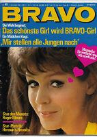 BRAVO Nr.45 vom 4.11.1968 Donovan, Manuela, Roger Moore, Roy Black, Lorne Greene