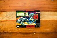 *VERY RARE* BioMetal 100% Complete CIB w/ Poster for Super Nintendo SNES