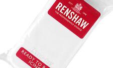 Renshaw 1 Kg Pack Professional Ready To Roll Sugarpaste White Icing Free UK P&P