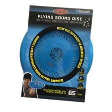 Flying Sound Disc - Light-Up and Bluetooth Speaker Throwing Disc  Blue