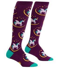 Sock it to Me Wish Upon a Pegasus Unicorn Knee High Dress Socks