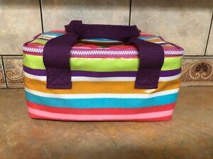 Portable Insulated 6 pack Cooler Bag: Beverages, Lunch, Cosmetics FREE SHIPPING!