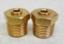 "2 - Brass Fitting Straight 1/2""npt To 1/4"" Hose Push Connect Air Ride Suspension"