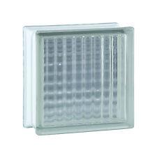 1 Paket (= 6 Stück) Glasbausteine Glasstein Glassteine GEKREUZT KLAR 19x19x8cm