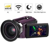 "Andoer 4k Ultra Hd Wifi 48mp 16x Zoom 3"" Lcd Digital Video Camera Camcorder DV"