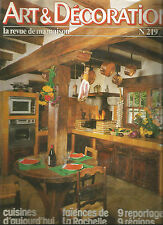 "Revue ""art & decoration"" no. 219 march 1980 kitchen today-rochelle faience"
