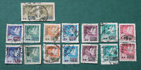 RARE China PRC 1950 Stamps - 2 Full Used Set of Surcharged on Whistling Swans