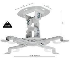 White Projector Mount Universal Ceiling LCD 15 degree Tilt 360° Swivel 30lbs