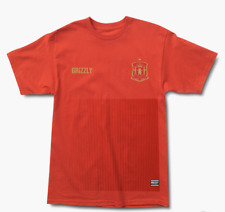 Grizzly Griptape Spain Mundial Tee - Red - Large