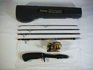 (estate find) Daiwa Minicast Gold MG-59 5' Travel Kit Reel & Rod Combo System