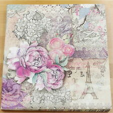 20pcs 33*33cm Color Printing Eiffel Tower Paper Napkins,100% Virgin Wood Napkin