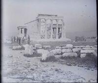 Grecia Atene Acropoli Erechtheion Archeologia, Negativo Foto Stereo Placca