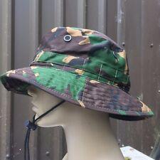 NEW MIL-COM BRITISH ARMY STYLE WOODLAND DPM BOONIE HAT,BRIMMED CAMO BUSH HAT