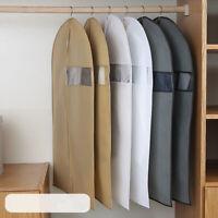 Dustproof Clothes Hang Garment Suit Coat Jacket Cover Wardrobe Storage Bag M-XL
