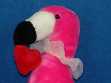 PINK VALENTINE LOVER LACE GARTER NECKLACE FLAMINGO PLUSH STUFFED ANIMAL TOY BIRD