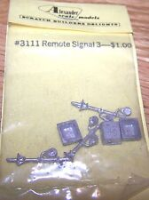 ALEXANDER SCALE MODELS-#3111 REMOTE SIGNAL-DETAIL PARTS-3 PCS PER PK-NIP
