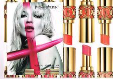 PUBLICITE ADVERTISING 2007 YVES SAINT LAURENT cosmétiques KATE  MOSS ( 2 pages)