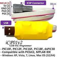 iCP01v2 USB Microchip ICSP PIC Programmer PIC10,12,16,18F,dsPIC30 @ PICkit2 SW