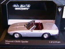 MASERATI GHIBLI SPYDER ARGENTO 1969 MINICHAMPS 400123331 1/43 SPIDER SILVER