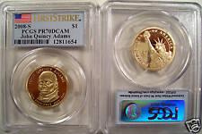 2008-S J.QUINCY ADAMS PRESIDENTIAL$1 PCGS PR70DCAM  F.S