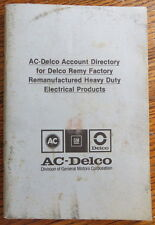 1980 AC-Delco-Remy Accountt Directory Manual for Remfg'd Electrical Products