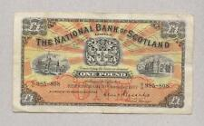 NATIONAL BANK SCOTLAND £1 NOTE [ B/U  985-808  ] 1957