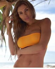 Discontinued Wicked Weasel Sheer Vision Bandeau Top 334 Size: M , Orange