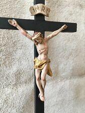 Cruzifix  Holz Alte Antik Jesus Heiligenfigur Barock handgeschnitzten