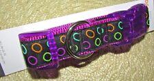 "Halloween Nylon Adjustable Large Dog Collar up to 26"" Neon Purple Circles"