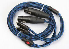 Audiophile Audio Cable 2 RCA Male to 2 XLR Female 3 Pin 1meter