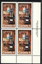 Canada #533 6¢ Discovery of Insulin Lr Inscription Block Mnh