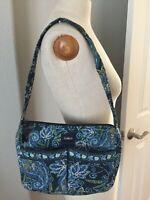 LIZ & CO PURSE HANDBAG Women's Paisley Blue Shoulder Quilted Purse Hobo Handbag