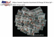 300pcs Ceramic Capacitor Assortment Kit Range 30 Value 2pF-100nF (10 pcs each)