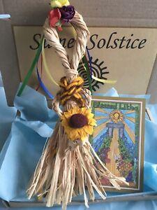 Litha 🐝Corn Doll 🌻Summer Solstice  🌻Goddess  🐝Original Art Card 🌻
