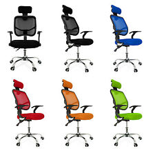 Adjustable Chrome Executive Office Chair Desk Computer Chair Mesh Seat Fabric