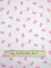 Easter Fabric - Pink Bow Toss on White - Michael Miller YARD