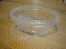 11 kleine Plastikdosen mit Deckel, Länge ca. 13 cm