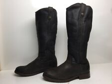 #B WOMENS FRYE WINTER RIDING LEATHER DARK BROWN BOOTS SIZE 8.5 B