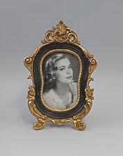 Picture Frame Table frame Vintage black gold a3-73148