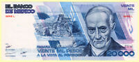 MEXICO 20,000 PESOS 1985 AU-UNC BANKNOTE PICK #91a (FIRST YEAR OF ISSUE)  [181]