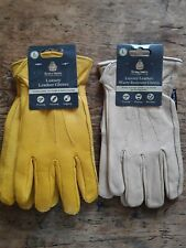 2 x Kent & Stowe  Luxury Leather Gardening Gloves Size L Mens Large