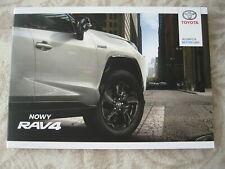 2019 Toyota RAV4 Full Brochure Prospekt 56 pgs 29,5 x 21 cm Big POLISH version