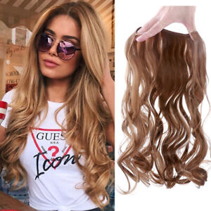 Brown Headband Wire Natural Hair Extension Hairpieces Real Natural Wave Auburn